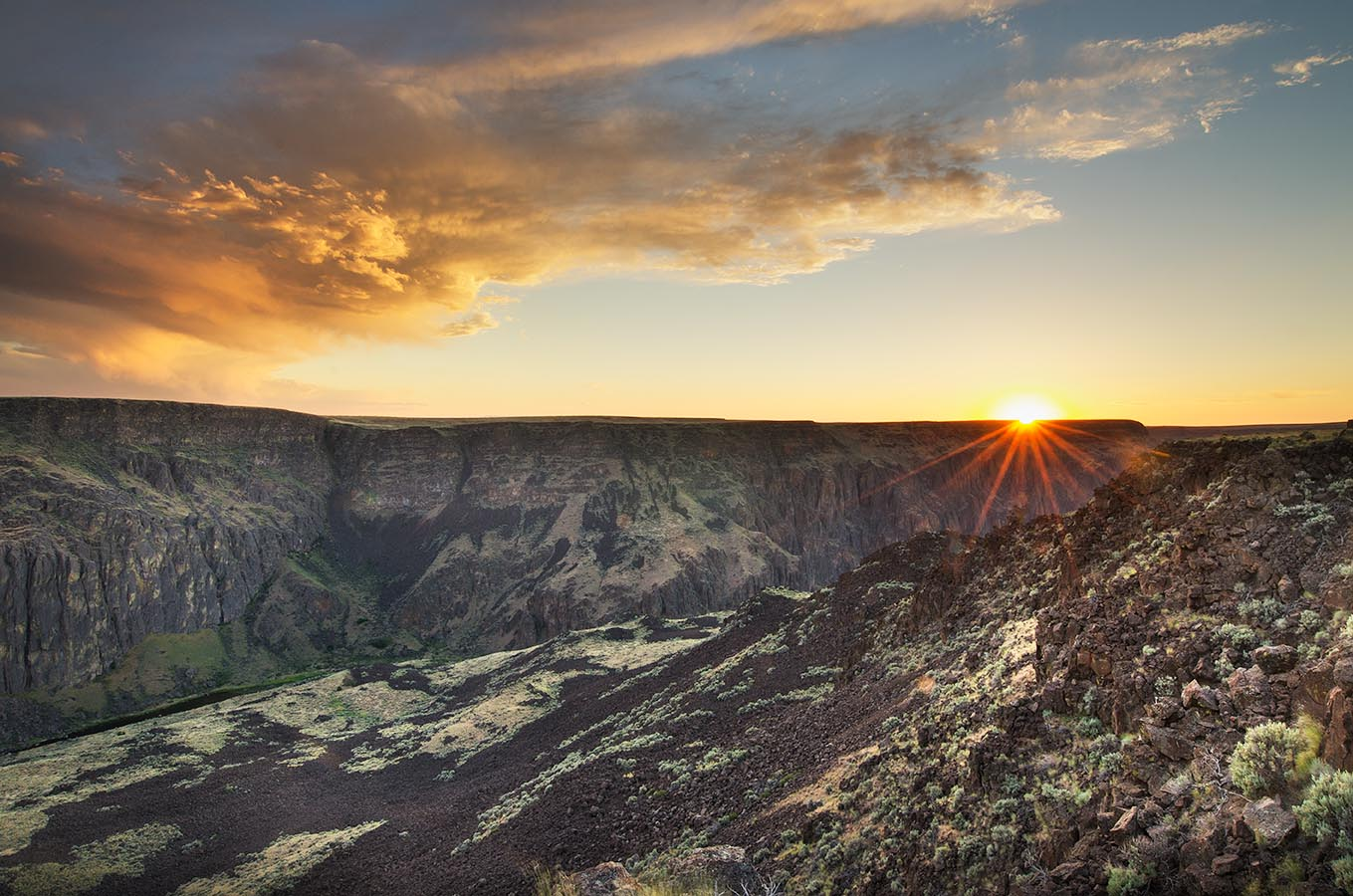 Owyhee River Canyon Sunset Oregon Oregon Desert Photography
