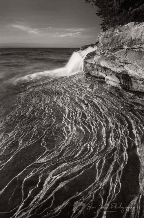 Elliot Falls Pictured Rocks Michigan.