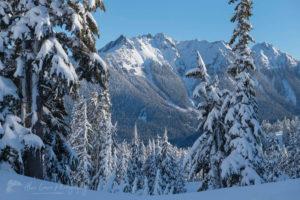 Nooksack Ridge in winter North Caascades Washington