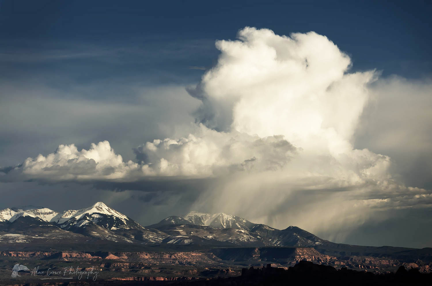 Storm clouds over La Sal Mountains