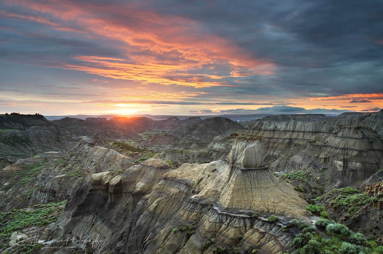 Makoshika State Park Sunset Montana