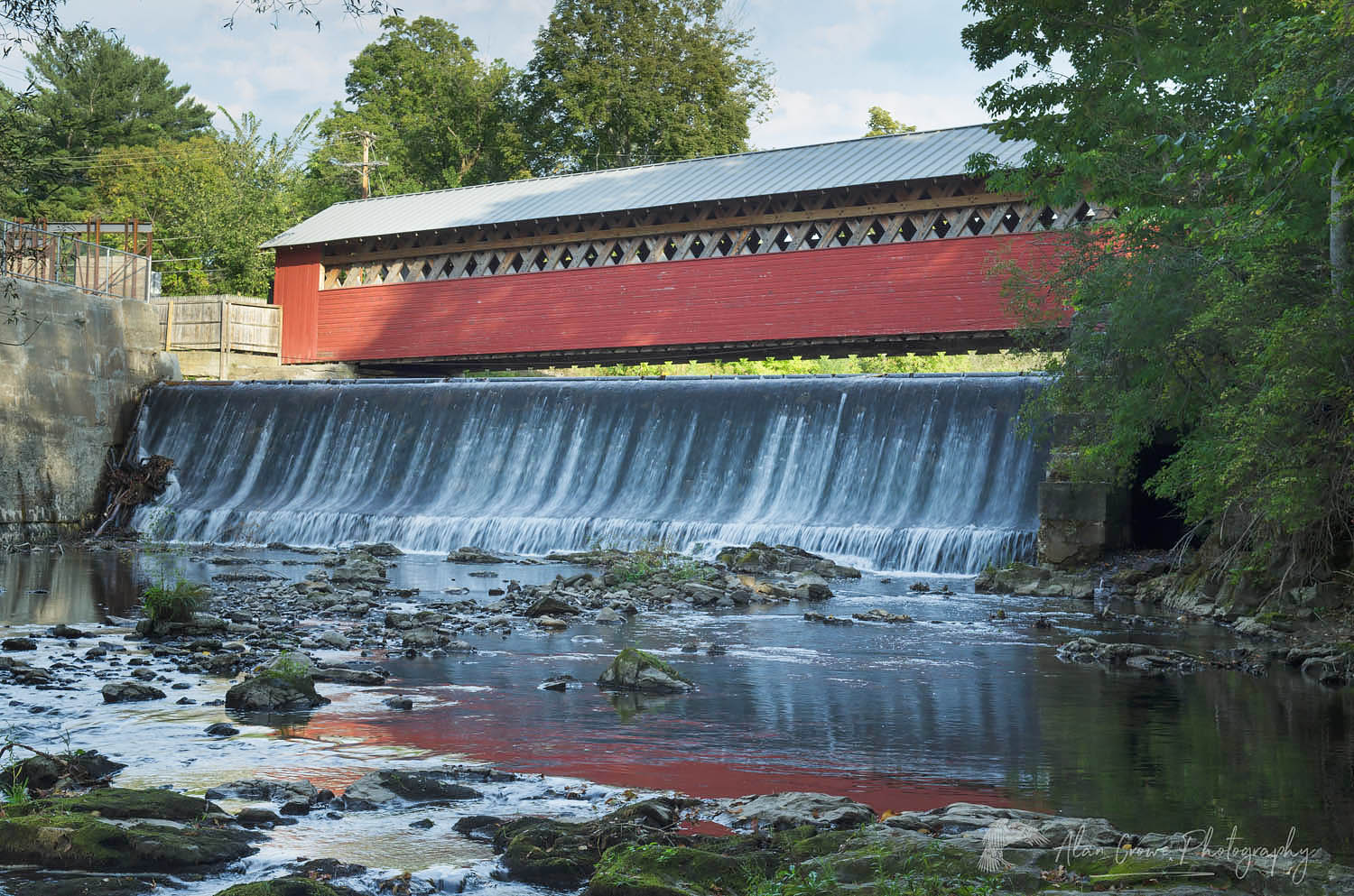 Paper Mill Covered Bridge Vermont