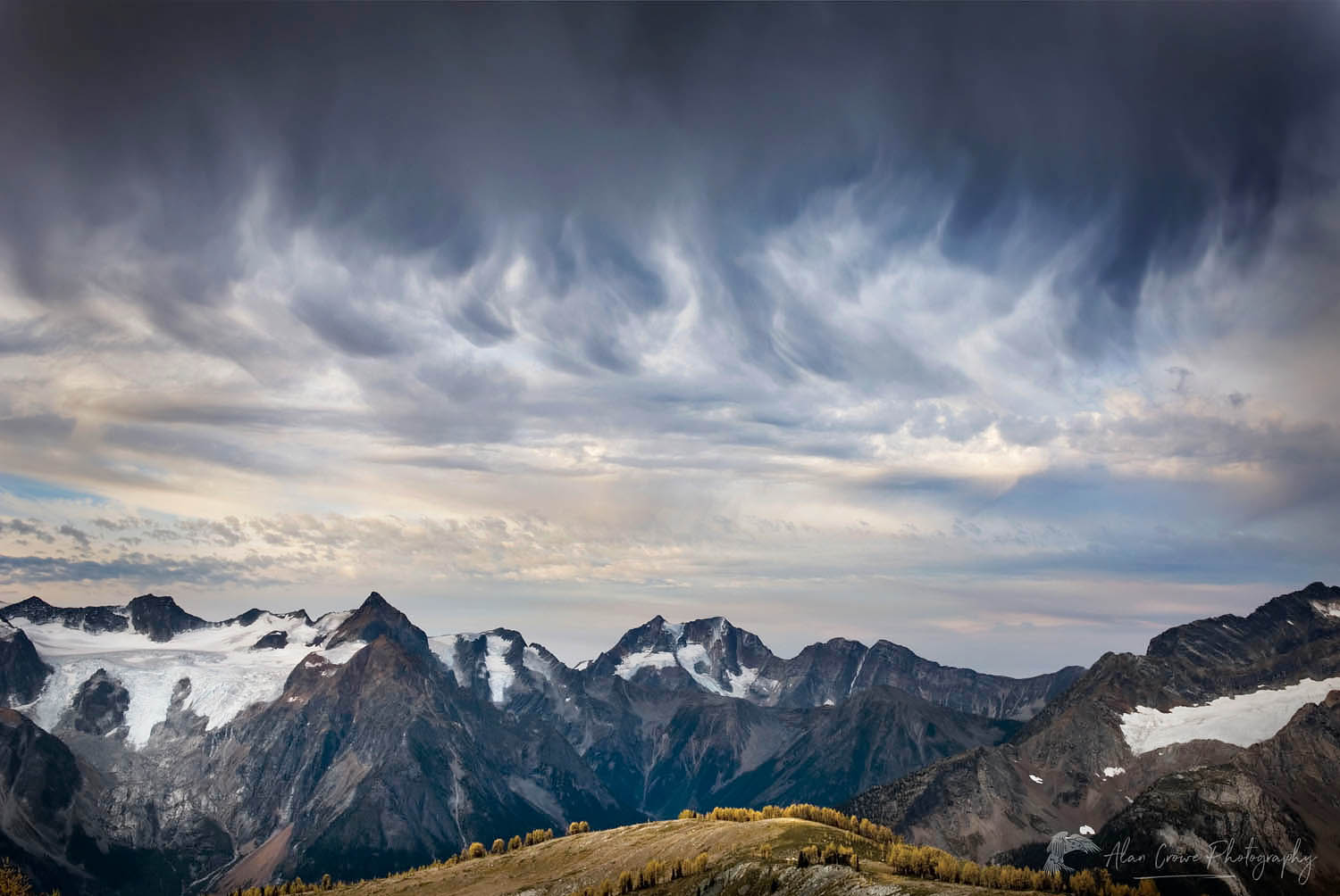 Purcell Mountains Storm Clouds British Columbi