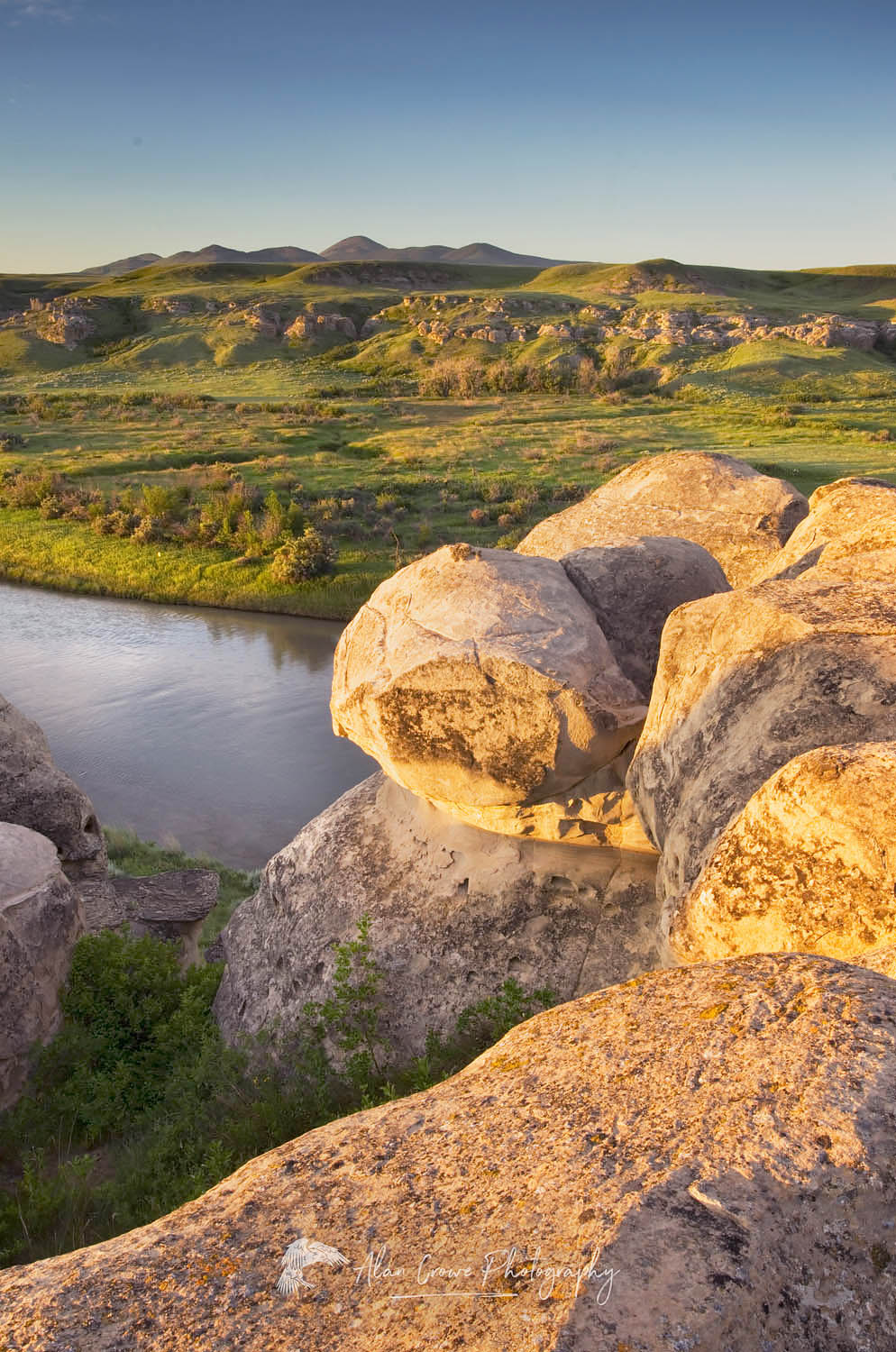 Writing on Stone Provincial Park Alberta Canada