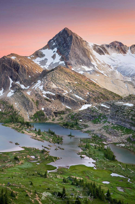 Russell Peak and Limestone Lakes British Columbia