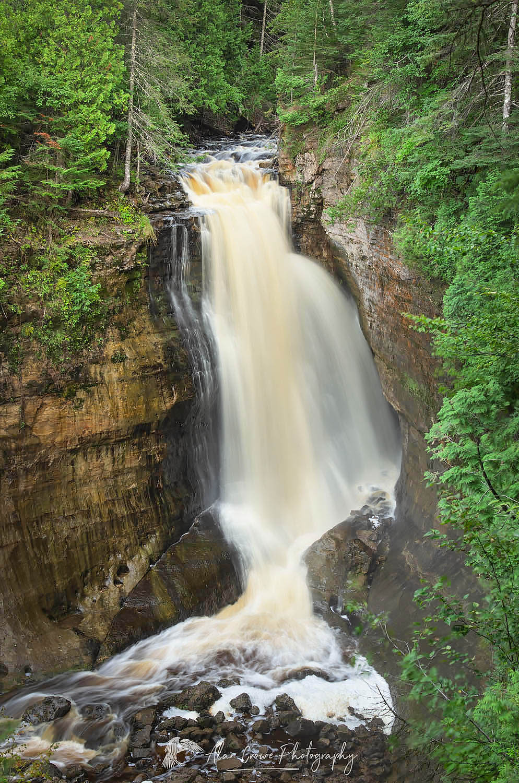 Miners Falls Pictured Rocks Michigan