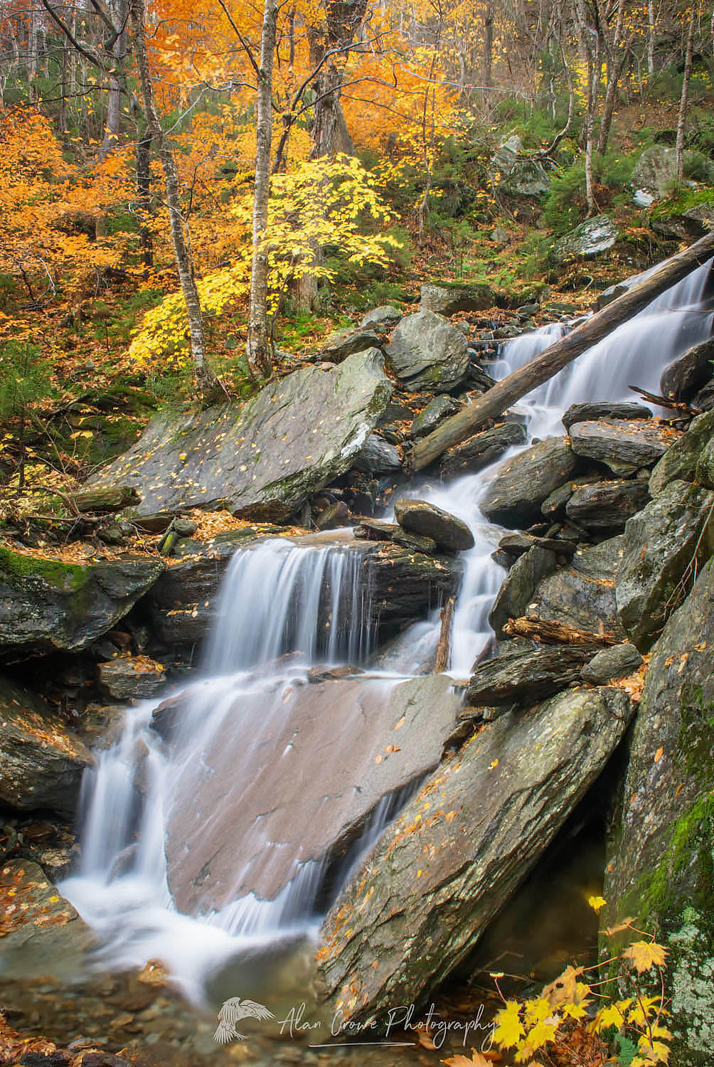 Smugglers Notch Waterfall Vermont
