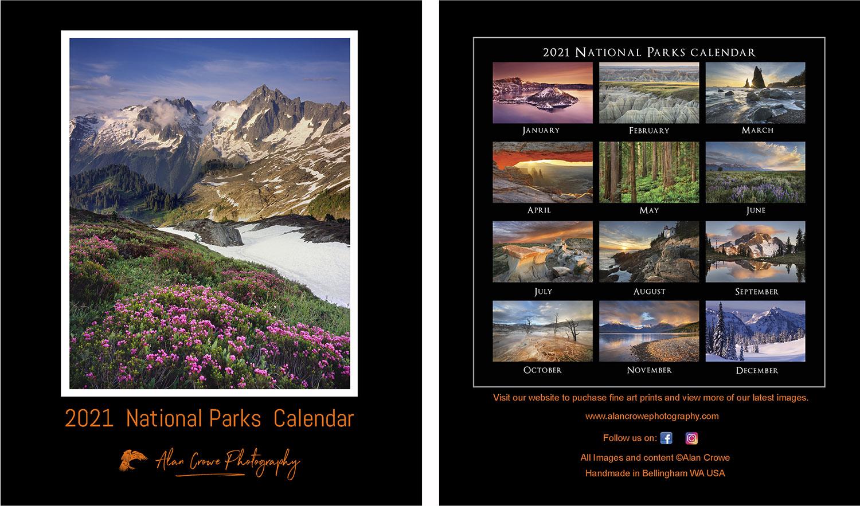 National Parks Desktop Calendar 2021