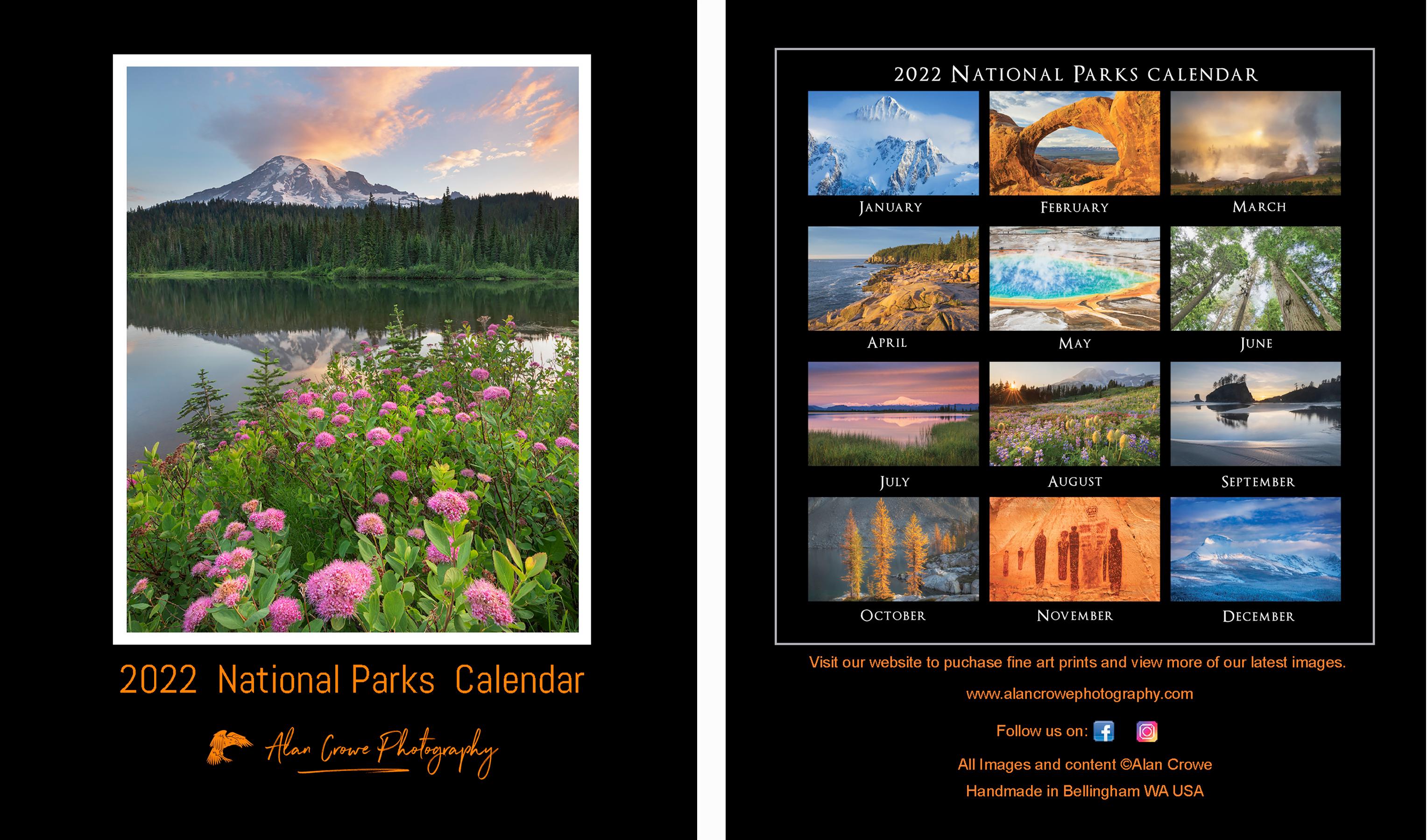 National Parks Desktop Calendar 2022