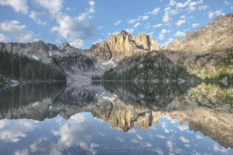 Baron Lake Monte Verita Peak Sawtooth Mountains