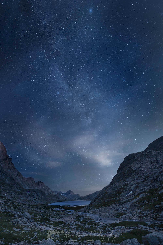 Milky Way over Upper Titcomb Basin Wind River Range Wyoming